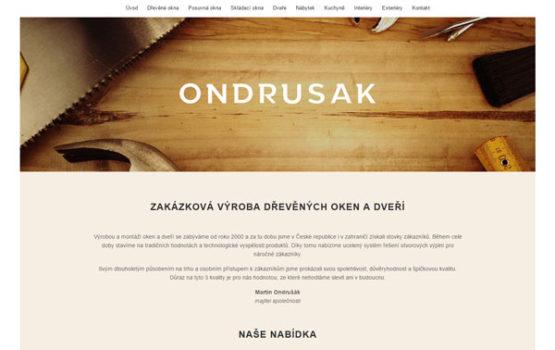 Ondrusak.cz - tvorba internetových stránek Pixify.cz